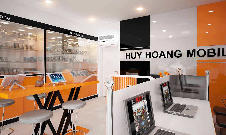 Thiết kế- thi công Shop Huy Hoang Lê Quang Định