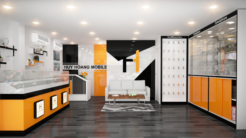 Thiết kế thi công Shop Huy Hoàng - Đinh Tiên Hoàng