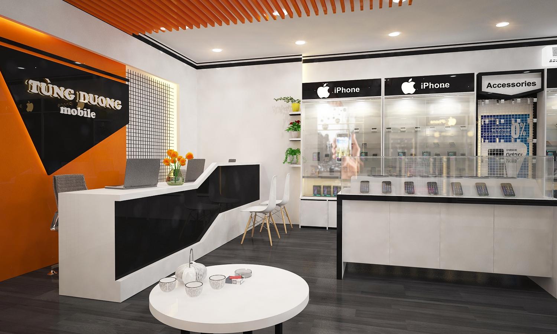 Thiết kế & thi công showroom điện thoại Tùng Dương